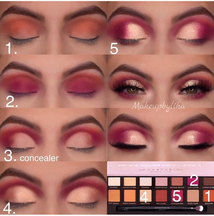 ABH Modern Renaissance eye makeup palette step by step eye makeup look bridal ma…