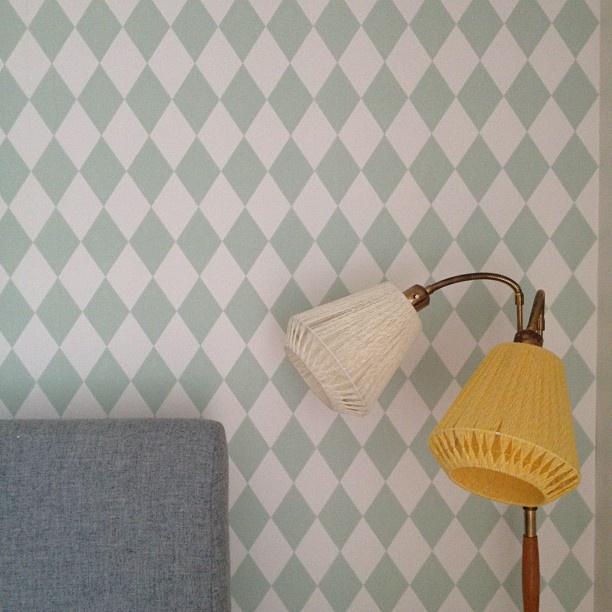 New wallpaper in the bedroom