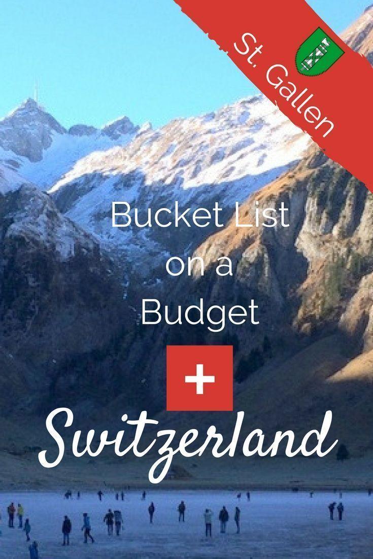 Bucket List on a Budget: St.Gallen, Switzerland. I'm your Switzerland travel guide. Find out what's free & cheap and where to sleep! #VisitSwitzerland #VisitStGallen #BucketListOnABudget