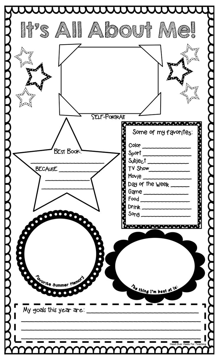 worksheet All About Me Worksheet For Adults 1000 images about all me poster ideas on pinterest first its pdf like