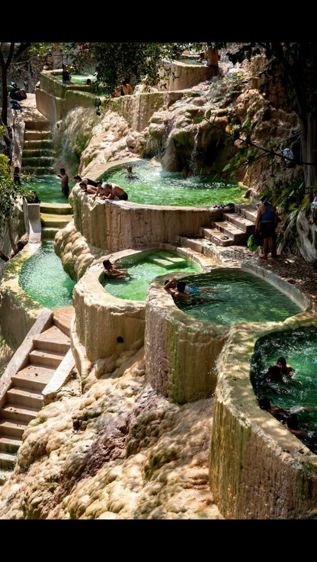 Hot springs hildago Mexico