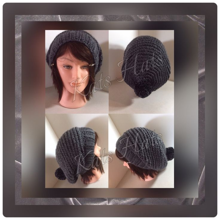 Slouch Beret crochet hat.  Original Kats Hats design.  Very cozy with a beautiful drape. http://facebook.com/Kats.hats.1