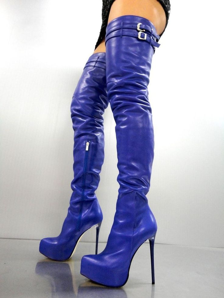CQ COUTURE PLATFORM CUSTOM OVERKNEE BOOTS STIEFEL STIVALI LEATHER BLUE BLU 44 | Abbigliamento e accessori, Donna: scarpe, Stivali e stivaletti | eBay! #platformhighheelslatex