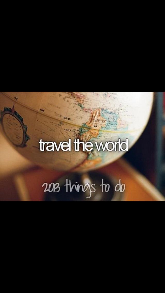 London, Paris, Rome, Venice, Barcelona, Athens, Vietnam and Thailand...check. Next off, everywhere else!