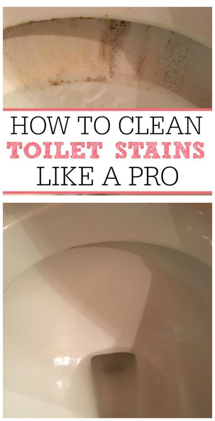 Get rid of those awful toilet bowl stains without scrubbing. Check out how to clean toilet stains like a pro and get your toilet clean again.
