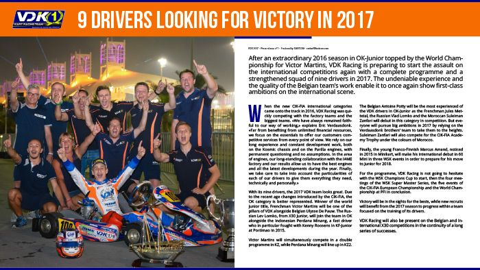 VDK Racing - 9 drivers looking for victory in 2017