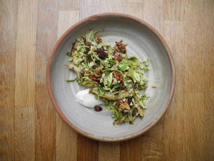 Brussels sprout and barley salad with lemon-honey vinaigrette - The Globe and Mail