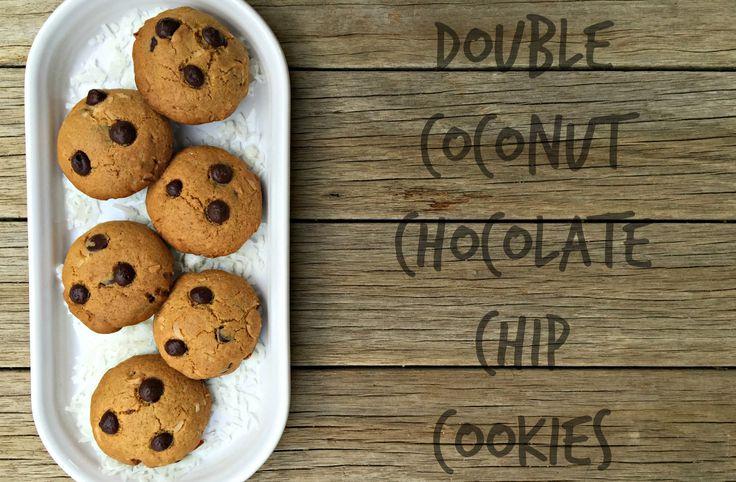 Dobles galletas de chocolate de coco 2