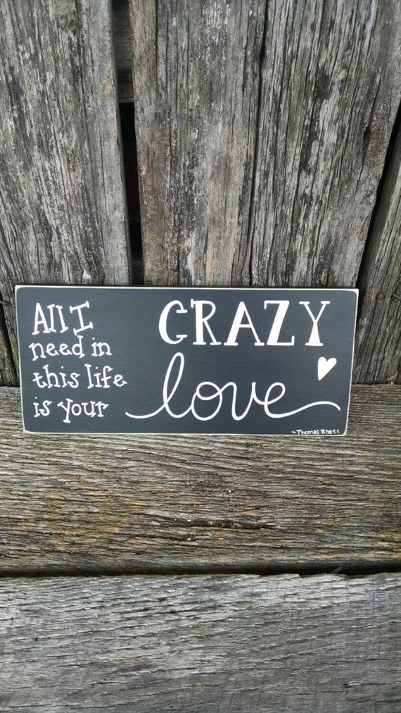 This hand-painted sign has a favorite lyric from a Thomas Rhett song and is a sweet reminder of that special someone. The sign measures                                                                                                                                                                                 More
