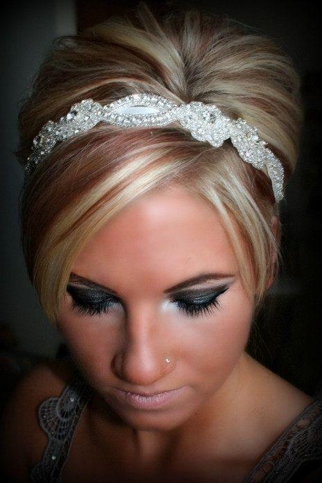 Bridal Headband, Wedding Headband, SWEETHEART, rhinestone headband, bridal hair piece, bridal accessory on Etsy, $34.95