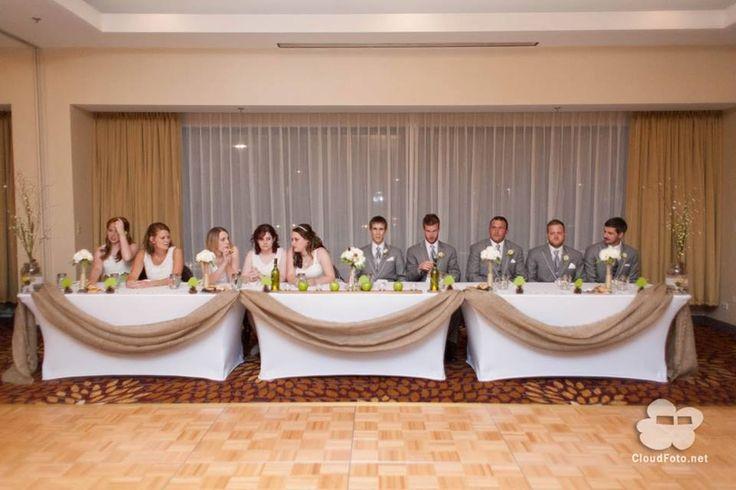 Ideas For Head Table At Wedding head table ideas wedding reception trendy bride Burlap Head Table Decor The Whimsical Wedding Pinterest Head Table Decor Head Tables And Burlap