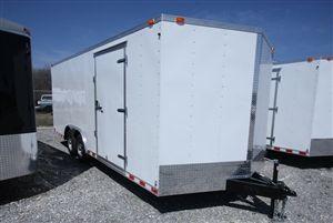Continental Cargo Trailers - Value Hauler Wedge - 8.5' x 20' Aluminum Enclosed Car Hauler - V Nose, Ramp Door   Model: VHW8520TA3