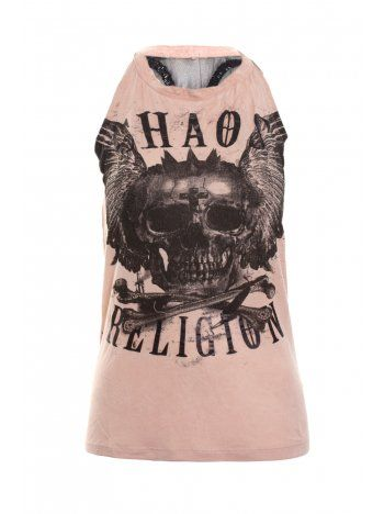 Religion Clothing Top Chaos In Cameo Rose