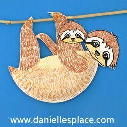 Sloth Paper Plate Craft www.daniellesplace.com