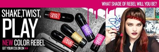 This Just In: Redken's Color Rebel Hair Makeup! Just shake, twist, and play! Talk to Lan Nguyen to try it out.