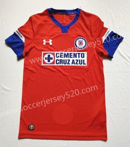 0185cf80bc6 2018-19 Cruz Azul 2nd Away Red Thailand Soccer Jersey AAA | Adults ...