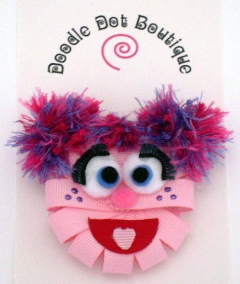 DoodleDotBoutique : Sesame Street Abby Cadabby Hair Bow Infant Toddler