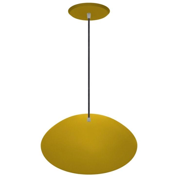 Pendentes Cromalux Chapéu Chinês 300605 Amarelo - A129 x L38 - MadeiraMadeira - R$144,66