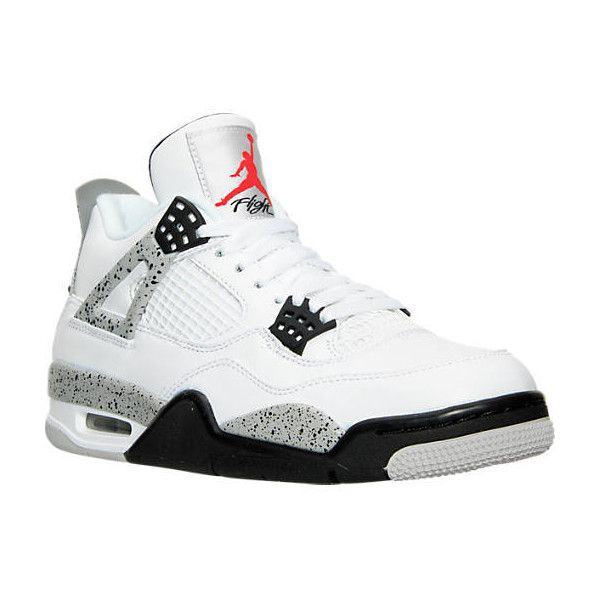 Nike Men's Air Jordan Retro 4 OG Basketball Shoes ($220) ❤ liked on  Polyvore featuring men's fashion, men's shoes, men's athletic shoes, mens  red shoes, ...