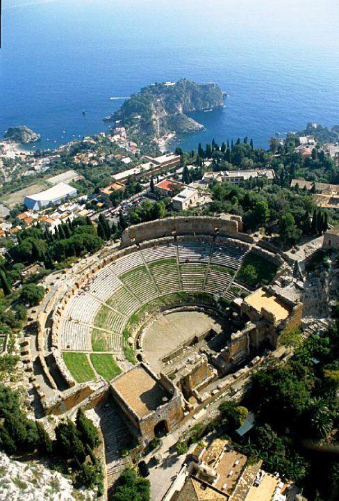 The Ancient Greek Theater of Taormina, Sicily, Italy