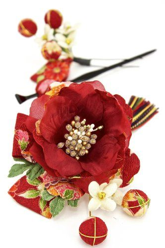 Amazon.co.jp: 髪飾り 和柄 組紐 花 [成人式/振袖/卒業式/袴/着物/和装]: 服&ファッション小物