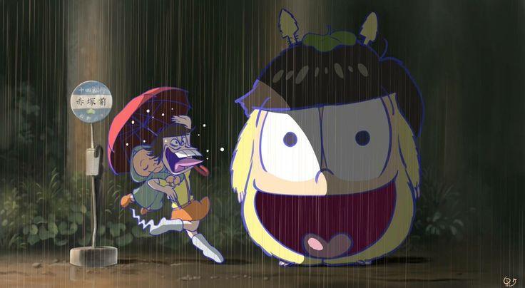 Osomatsu-san x Tonari no Totoro || Chibita, Iyami, Jyushimatsu Matsuno.