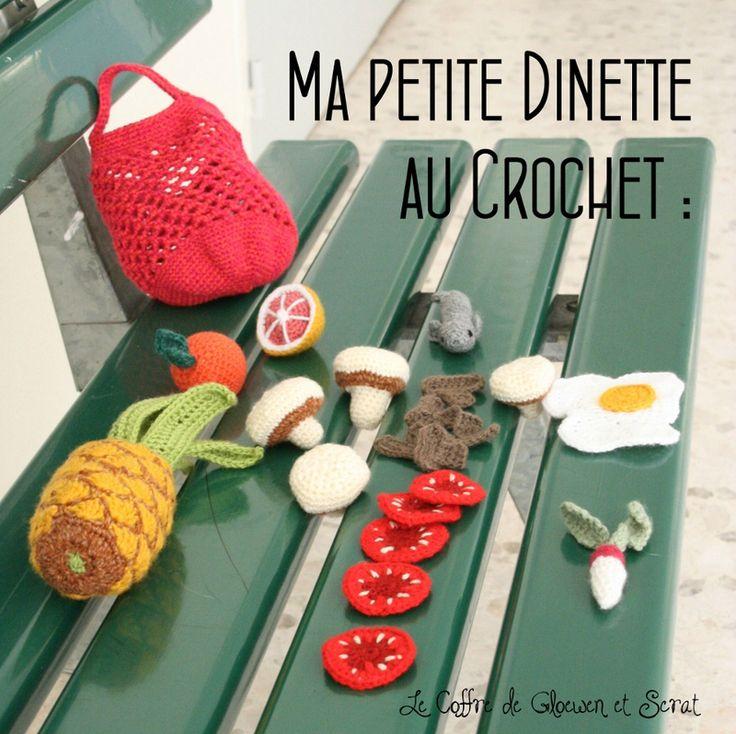 Dinette en crochet : Tuto - des fruits et des légumes au crochet