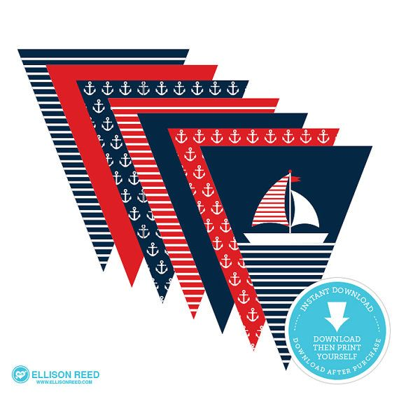 Best 25 nautical bunting ideas on pinterest nautical banner nautical banner nautical bunting banner nautical birthday nautical baby shower anchor pronofoot35fo Images