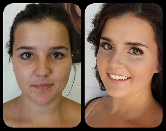 Before and after Makeup by Vicky Romans Vixen Art. Www.vixenart.co.za