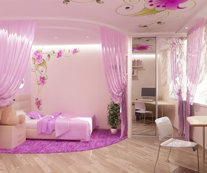 17 best ideas about pink bedroom design on pinterest for Bedroom designs pink and black
