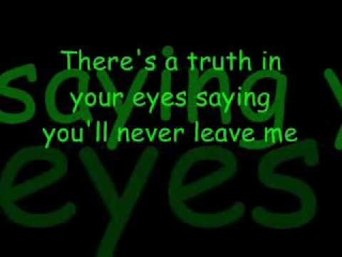 Ronan Keating - When you say nothing at all  Also try Alison Krauss version http://www.youtube.com/watch?v=muKQWGMC-b0
