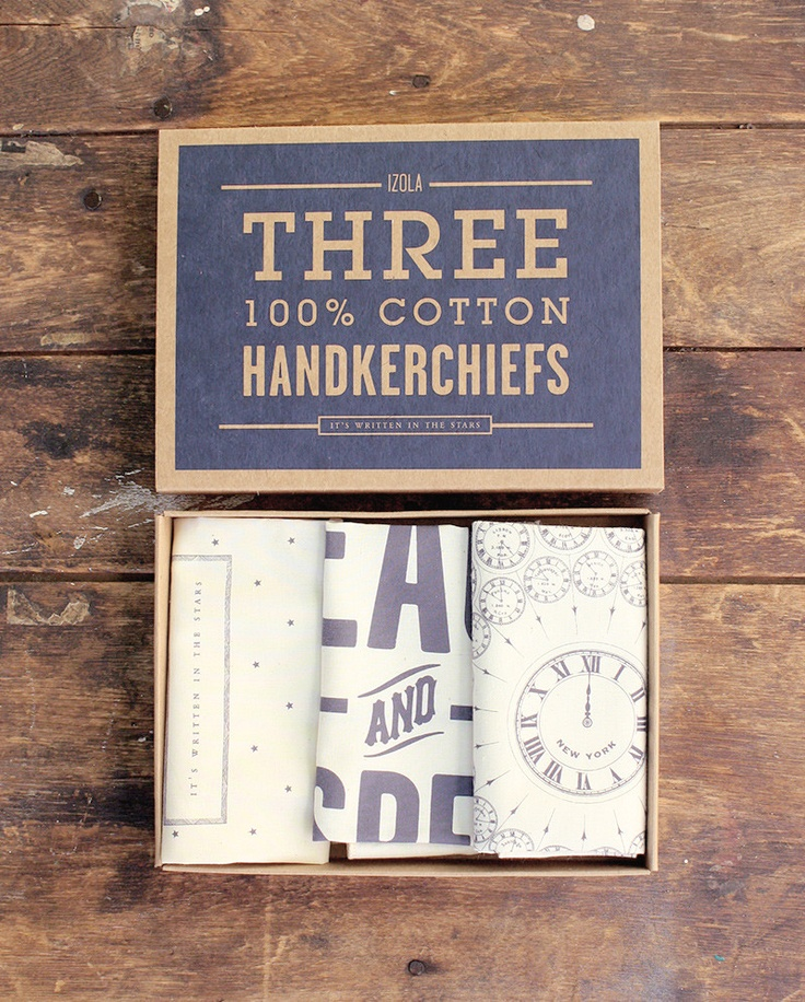 Reminds me of my Dad he always had a handkerchief in his pocket.    Izola - Handkerchief Set - Stars