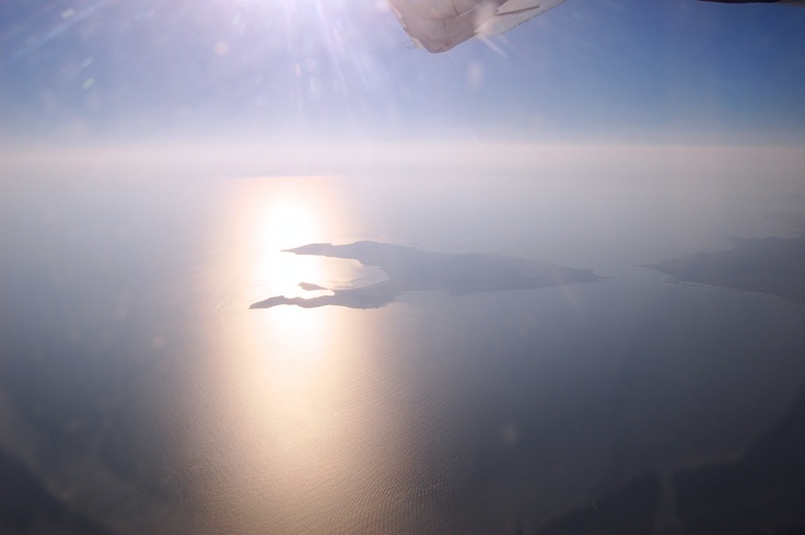Photo by Simoni Devetzi, flying over Elafonisos (thank you!)