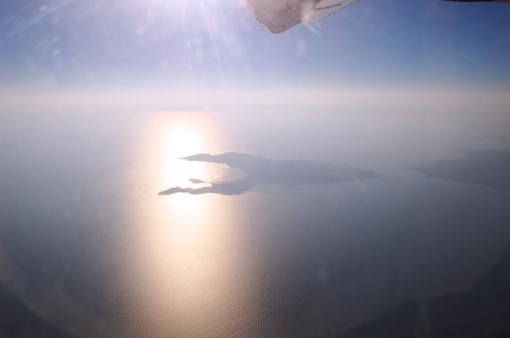 Photo by Simoni Devetzi, flying over Elafonisos (thank you!)