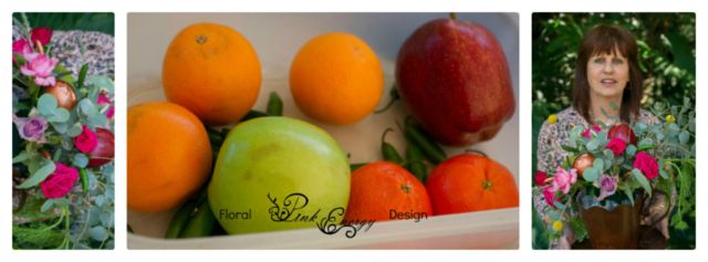 Each lady brought their own combo of fruit to incorporate. Workshop held at Pink Energy Floral Design - Sandton, Gauteng.