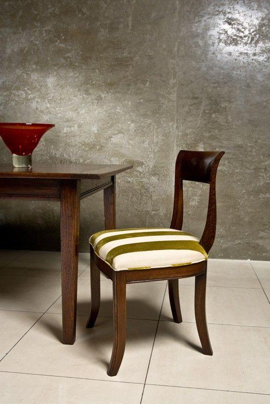 French oak Brooklyn Chair in GARIN Portland Pistachio
