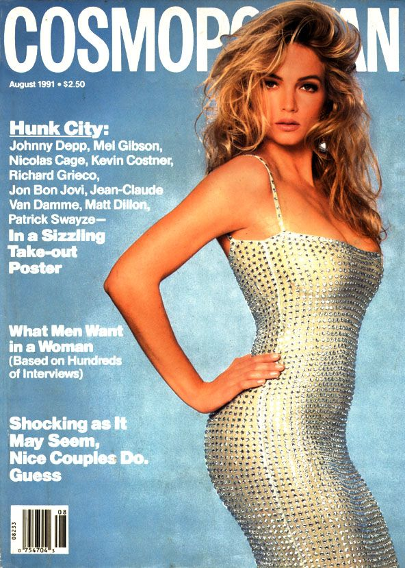 Cosmopolitan magazine, AUGUST 1991 Model: Rachel Williams Photographer: Francesco Scavullo