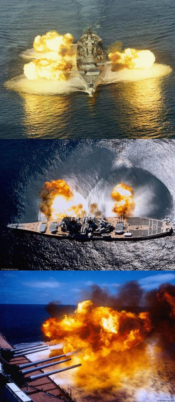 Battleship salvo fire. Now there's your  BIG BANG!