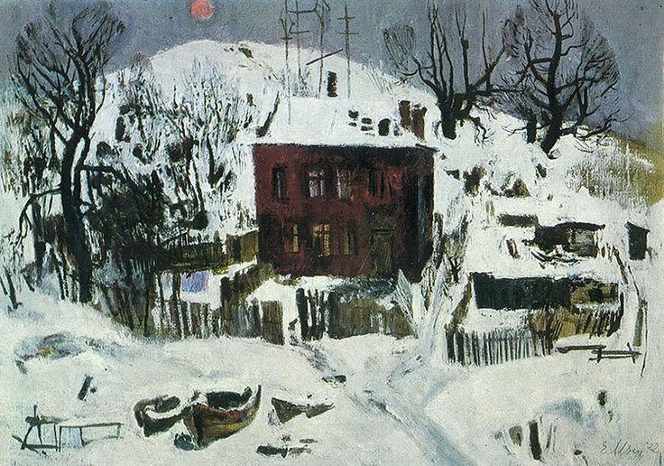 Лис над городом - Евсей Евсеевич Моисеенко