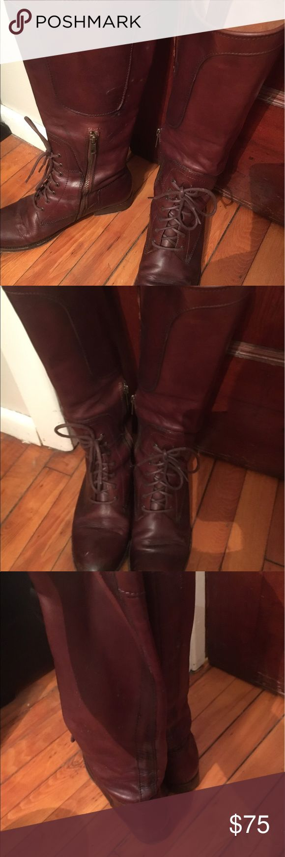 Frye riding boots 8 As pictured Frye boots 8 Frye Shoes Lace Up Boots