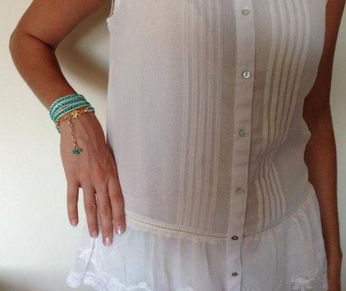 Wrap Leather Bracelet Jewelry Mint Green Elephant by GULDENTAKI womenfashion  #jewelery  #fashionable,  #trendy -  women  wrapbracelet