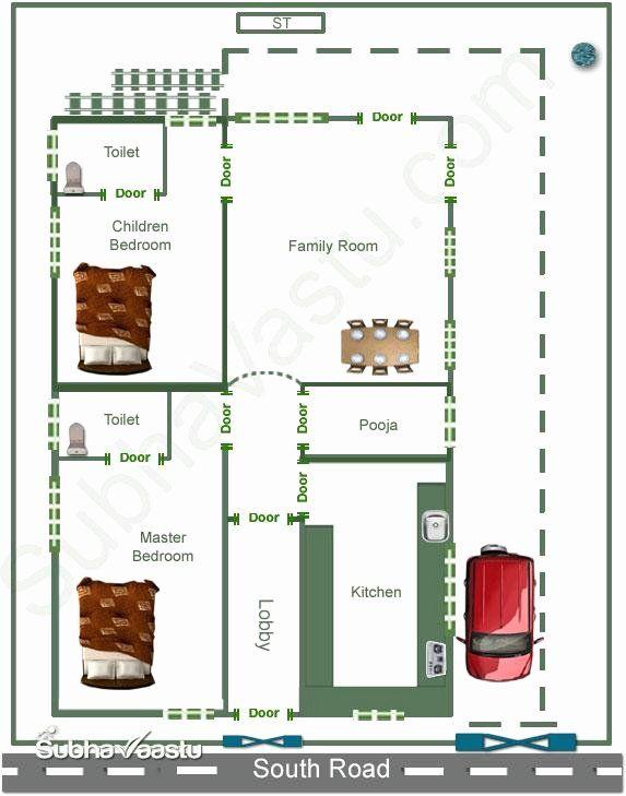 Indian Home Design As Per Vastu Shastra Lovely South Facing Home Vastu Plan South Facing House 20x40 House Plans 20x30 House Plans
