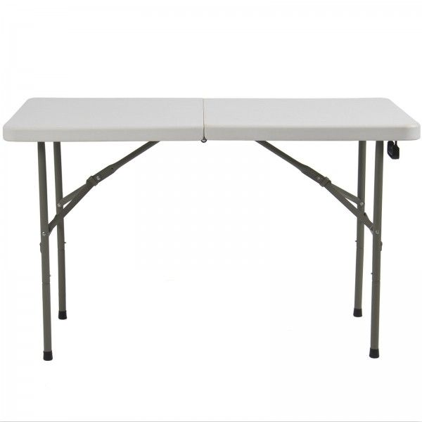 Single 4 Portable White Folding Table