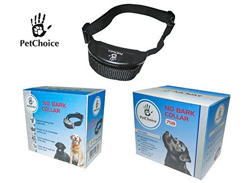 PetChoice No Bark Collar – Anti Bark Collar with 7 Different Correction Levels – Combination of Varying Intensities of Warning Tones and Shocks – Adjustable Might Bark Collar. Small-Big Dogs