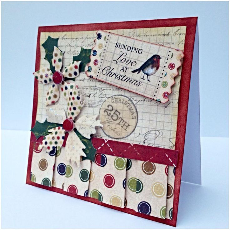 12x12cm with pleaated paper from Christmas Cheer Collection, designed by Nicky