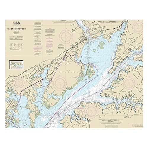 Head of Chesapeake Bay Nautical Chart printed on sailcloth for home décor wall art print. Unique Textile Printing http://www.amazon.com/dp/B00UXYHCDG/ref=cm_sw_r_pi_dp_yS8nwb16PCG7W