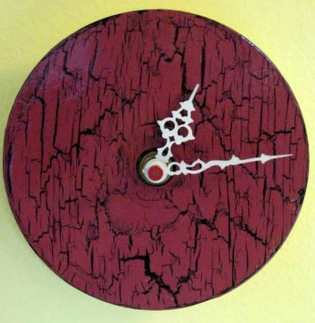 Unique Wall Clock Crackle Finish Clock Handmade #WallClock