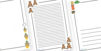 Whatever Next Page Borders - Whatever Next!, Jill Murphy, resources, space, baby bear, Large family, rocket, moon, owl, story, story book, story book resources, story sequencing, story resources ,Literacy, writing, page border, a4 border, template,