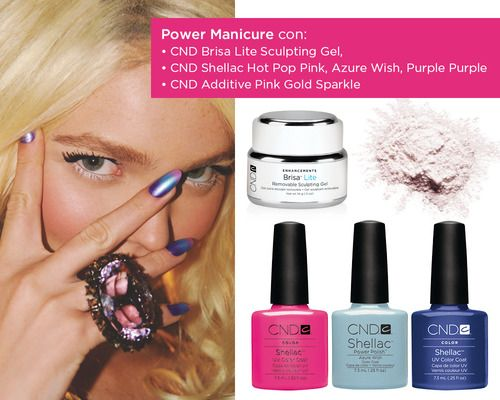 CND Brisa Lite Removable Gel + CND Shellac + CND Additives = CND Power Manicure    CND: www.cndshellac.it