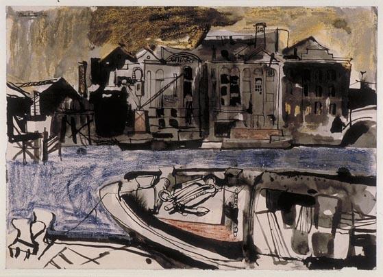 """John Minton's """"The Barge"""", 1946"""